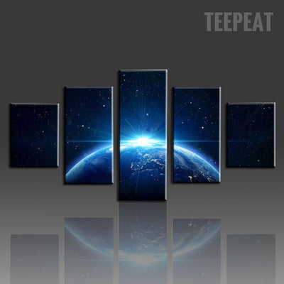 The Living Planet Painting - 5 Piece Canvas-Canvas-TEEPEAT