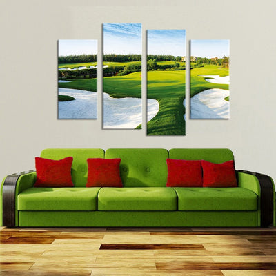 Golf Course Painting - 4 Piece Canvas-Canvas-TEEPEAT