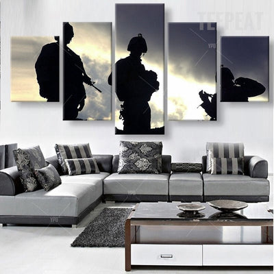 Soldiers On Guard Painting - 5 Piece Canvas-Canvas-TEEPEAT