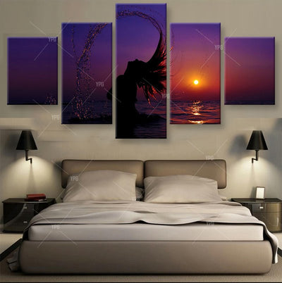 Girl At The Seaside Painting - 5 Piece Canvas-Canvas-TEEPEAT