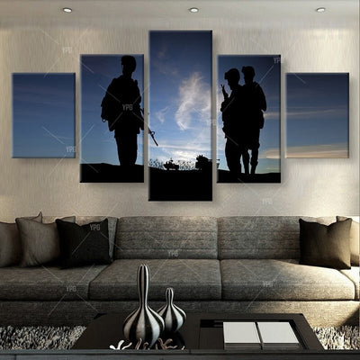 Patrol Guards Painting - 5 Piece Canvas-Canvas-TEEPEAT
