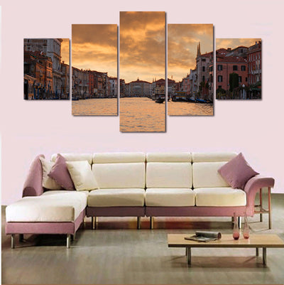 Venice, Italy Grand Canal Painting - 5 Piece Canvas-Canvas-TEEPEAT