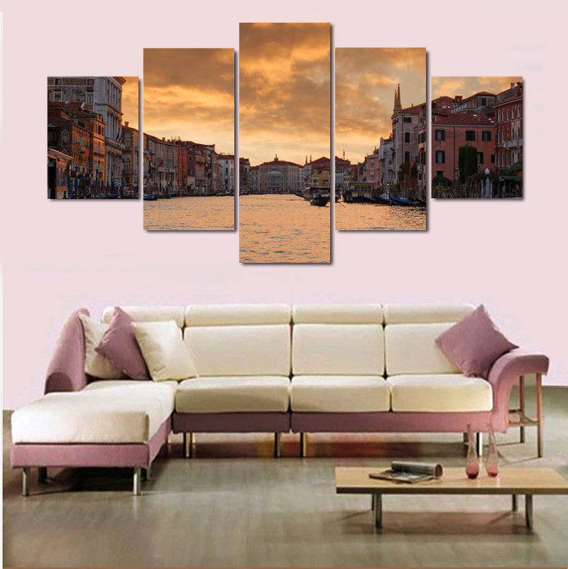 Venice, Italy Grand Canal Painting - 5 Piece Canvas