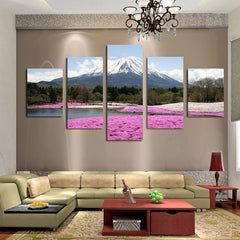 Japan's Mount Fuji Painting - 5 Piece Canvas
