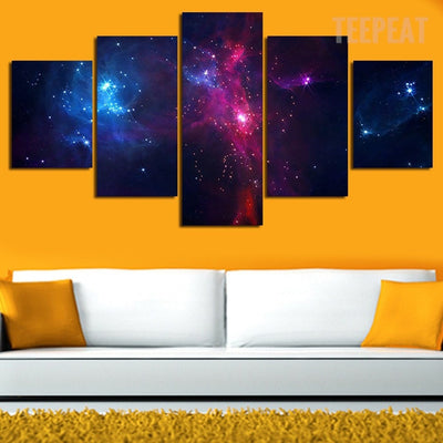 Swirling Landscape Of Stars Painting - 5 Piece Canvas-Canvas-TEEPEAT