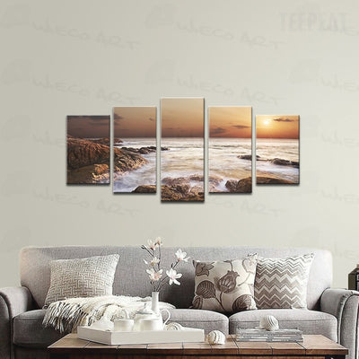 Rocky Sea Painting - 5 Piece Canvas-Canvas-TEEPEAT
