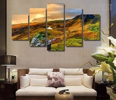 Isle Of Skye In Scotland Painting - 5 Piece Canvas