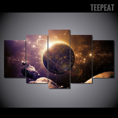Planet Of The Universe Painting - 5 Piece Canvas-Canvas-TEEPEAT
