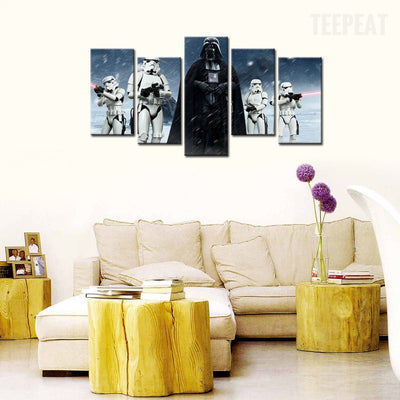 Star Wars: Darth Vader Painting - 5 Piece Canvas-Canvas-TEEPEAT