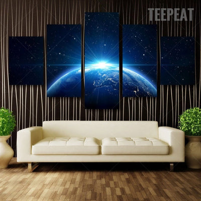 Star Light From Earth Painting - 5 Piece Canvas-Canvas-TEEPEAT