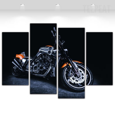 Sports Bike Painting - 4 Piece Canvas-Canvas-TEEPEAT