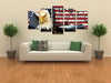 Harley Davinson Classic Car - 5 Piece Canvas-Canvas-TEEPEAT
