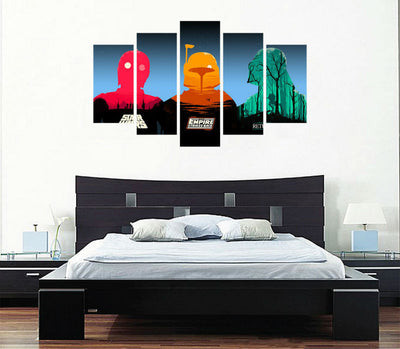 Star Wars Comics - 5 Piece Canvas Painting-Canvas-TEEPEAT