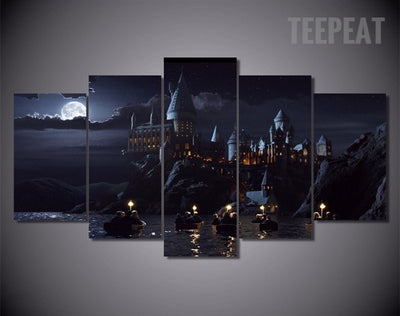 Harry Potter's Hogwarts School of Witchcraft and Wizardry - 5 Piece Canvas-Canvas-TEEPEAT