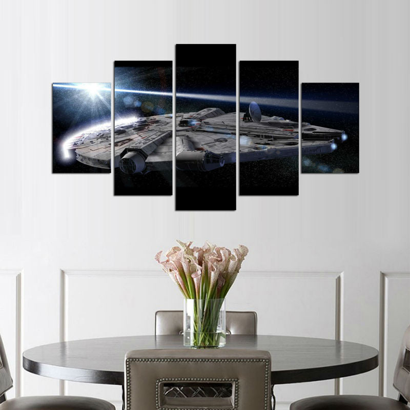 Star Wars: Millennium Falcon - 5 Piece Canvas Painting