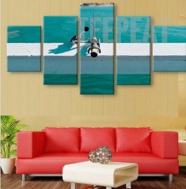 Late Afternoon Fishing - 5 Piece Canvas Painting-Canvas-TEEPEAT