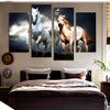 Two Galloping Horses - 4 Piece Canvas Painting