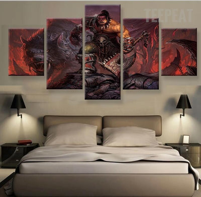 Warcraft Character Painting - 5 Piece Canvas-Canvas-TEEPEAT