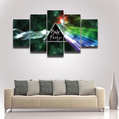 Pink Floyd V3 Painting - 5 Piece Canvas