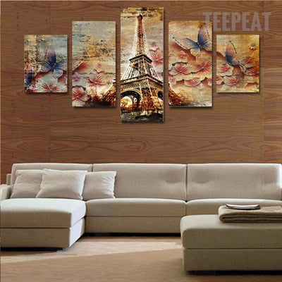 Stunning Butterfly Tower - 5 Piece Canvas-Canvas-TEEPEAT