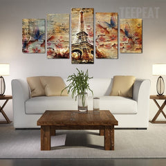 Stunning Butterfly Tower - 5 Piece Canvas