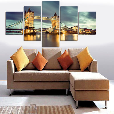 Magnificent Architecture Bridge - 5 Piece Canvas-Canvas-TEEPEAT