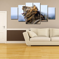 The King Of The Jungle V2 Painting - 6 Piece Canvas