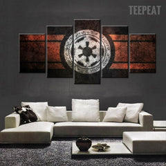 Star Wars Empire Logo Painting - 5 Piece Canvas