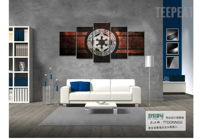 Star Wars Empire Logo Painting - 5 Piece Canvas-Canvas-TEEPEAT