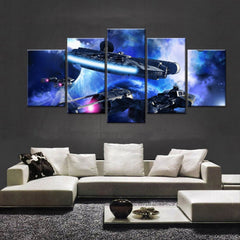 Star Wars: Millenium Falcon V2 Painting - 5 Piece Canvas