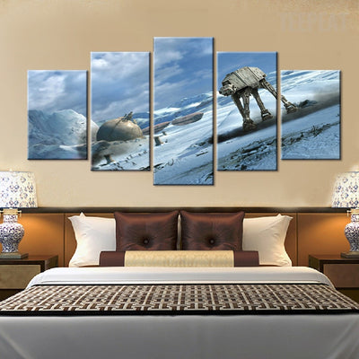 Star Wars: AT-AT Walkers Painting - 5 Piece Canvas-Canvas-TEEPEAT