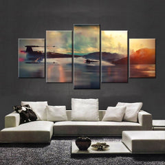Star Wars Battle V3 - 5 Piece Canvas Painting