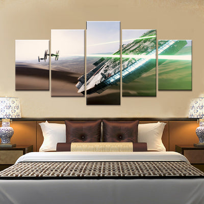 Star Wars V2 Painting - 5 Piece Canvas-Canvas-TEEPEAT