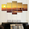 People Fishing Before The Sunset Seascape - 5 Piece Canvas-Canvas-TEEPEAT