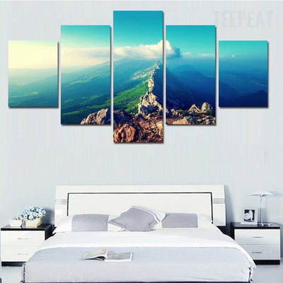 New York Sky Landscape - 5 Piece Canvas-Canvas-TEEPEAT