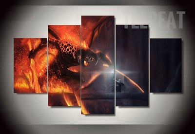 The Monkey King Balrog Landscape View - 5 Piece Canvas Painting-Canvas-TEEPEAT