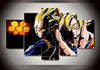 Vegeta And Goku Duo - 5 Piece Canvas-Canvas-TEEPEAT
