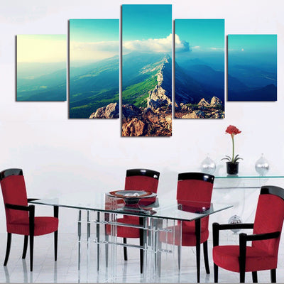 Hilltop Before The Blue Skies - 5 Piece Canvas-Canvas-TEEPEAT