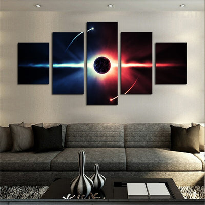 Planet In The Universe Painting - 5 Piece Canvas-Canvas-TEEPEAT