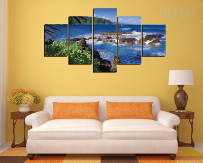 Maui, Hawaii Beach - 5 Piece Canvas-Canvas-TEEPEAT
