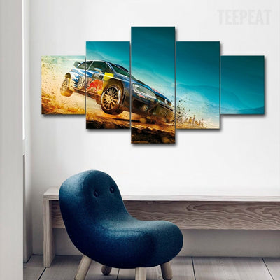 Racing Car Landscape View - 5 Piece Canvas Painting-Canvas-TEEPEAT