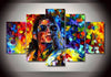 Michael Jackson - 5 Piece Canvas Painting