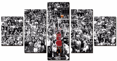 Michael Jordan Basketball Game - 5 Piece Canvas-Canvas-TEEPEAT