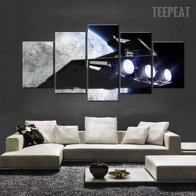 Sci-Fi Spacecraft From Star Wars Movie - 5 Piece Canvas-Canvas-TEEPEAT
