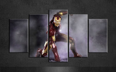 Iron Man Geared Up To Fight - 5 Piece Canvas-Canvas-TEEPEAT