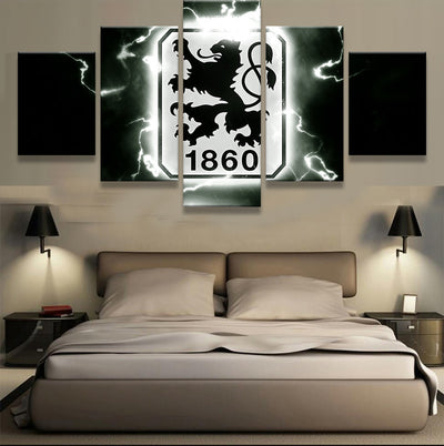 TSV 1860 Munchen Sports Team - 5 Piece Canvas-Canvas-TEEPEAT