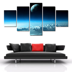 Star In The Universe Closed Up View - 5 Piece Canvas Painting