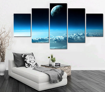 Star In The Universe Closed Up View - 5 Piece Canvas Painting-Canvas-TEEPEAT