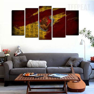 Lion Scenery - 5 Piece Canvas-Canvas-TEEPEAT