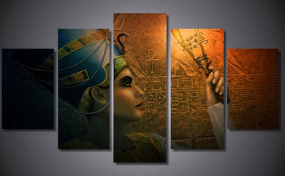 Lovely Egyptian Contemporary Painting - 5 Piece Canvas-Canvas-TEEPEAT